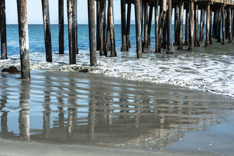 Pilier de plage d'Avila, la Californie photographie stock