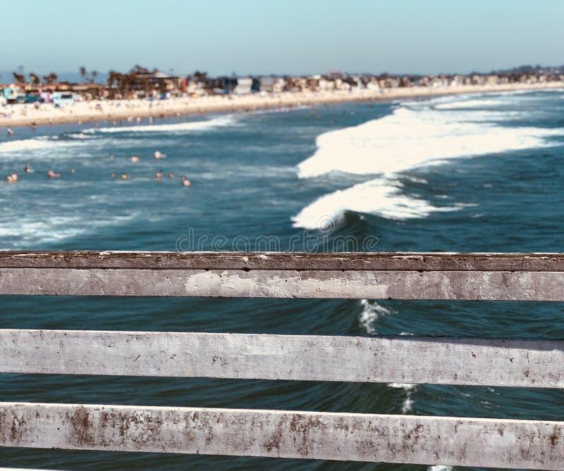 Pilier de plage image stock