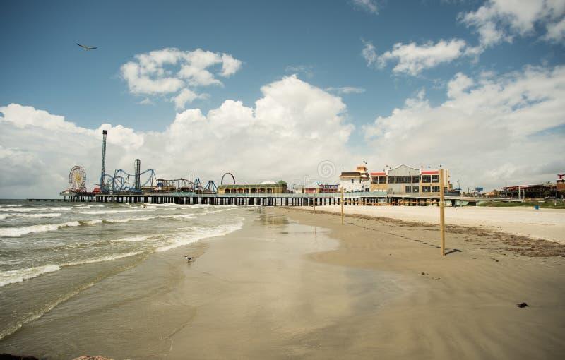 Pilier de plaisir - île de Galveston image libre de droits