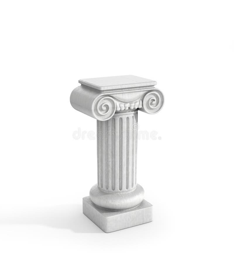 Pilier dorique grand de colonne image stock