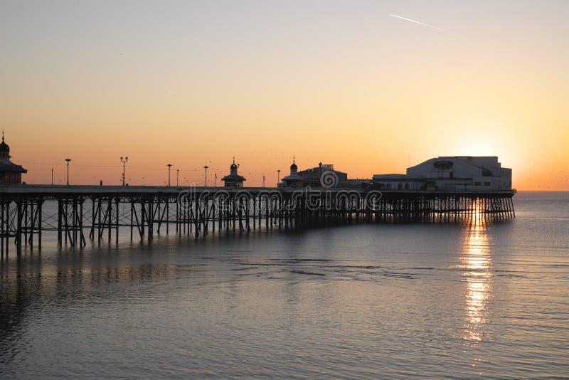 Pilier du nord de Blackpool chez Sunet photographie stock libre de droits