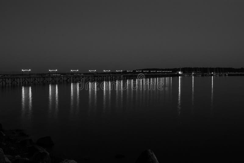 Pilier léger de nuit image stock