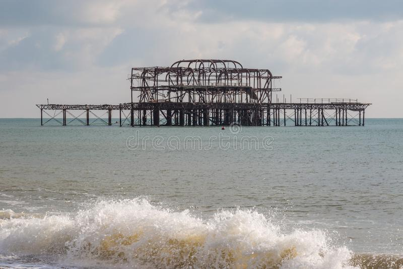 Pilier occidental du ` s de Brighton photos libres de droits