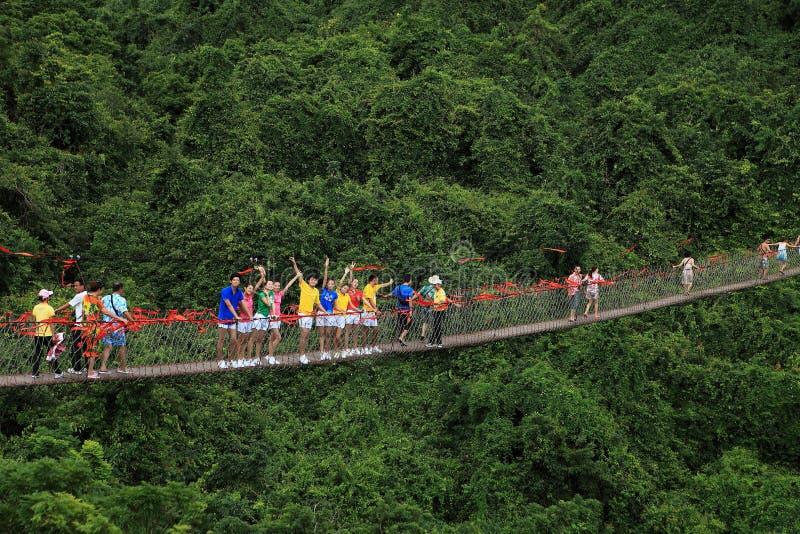 Pilier tropical de Forest Park de paradis de Sanya image stock