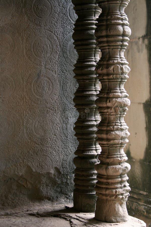 Piliers découpés de temple photos stock