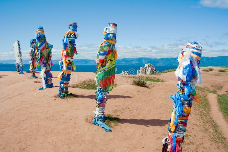 Piliers de Buryat photo stock