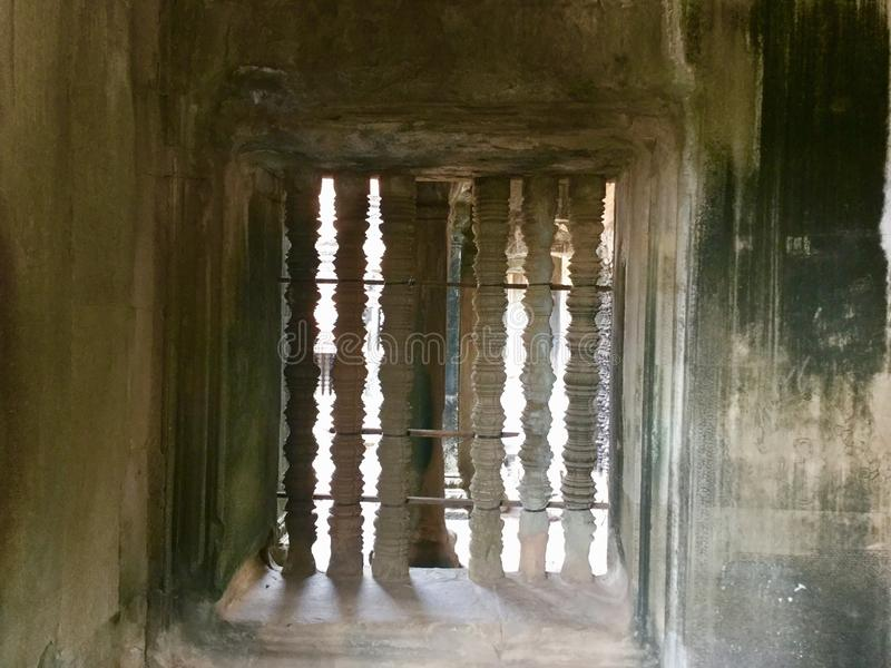 piliers Historique construit Architecture antique Angkor Vat Temple indou cambodia photo stock