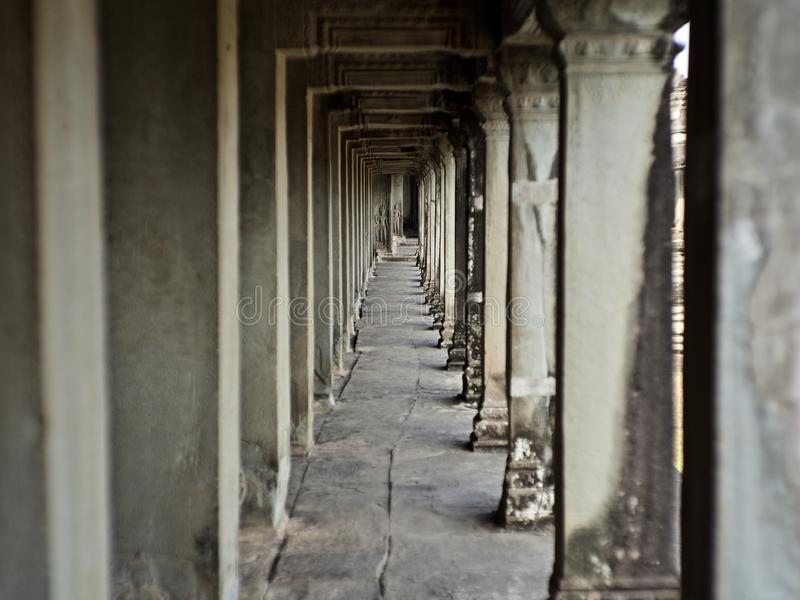 Piliers, Siem Reap, Cambodge photo libre de droits