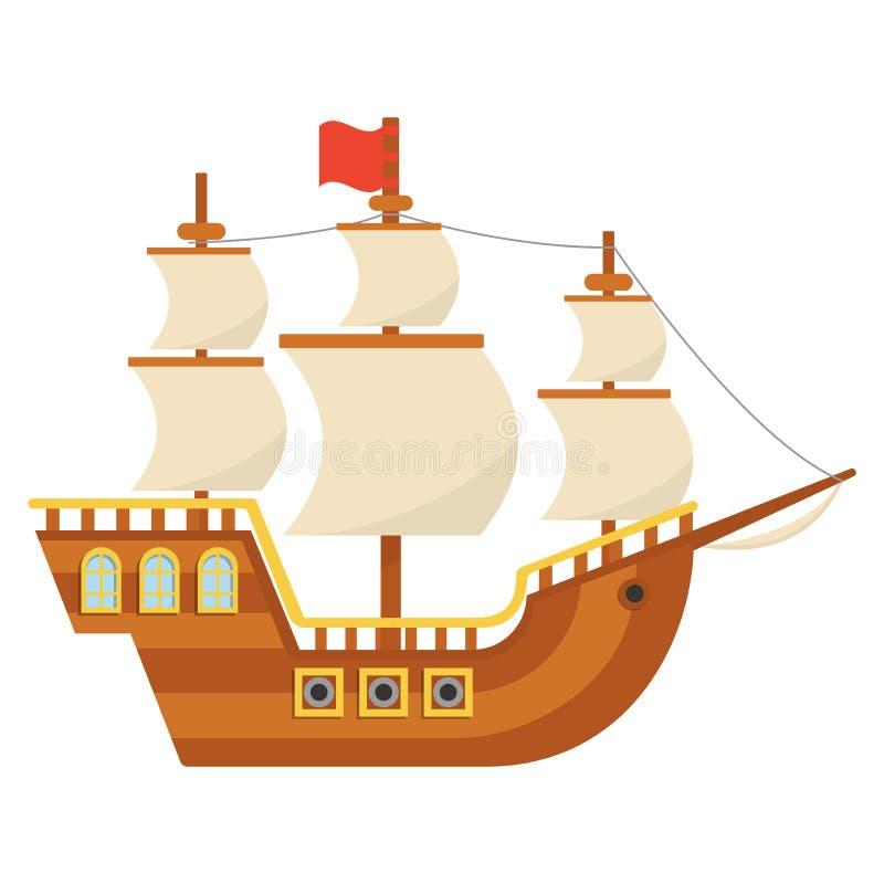 Piligriesschip Mayflower Thanksgiving day royalty-vrije illustratie