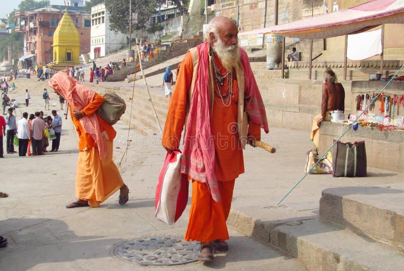 Piligrims indous sur la rue dans l'Inde photo stock