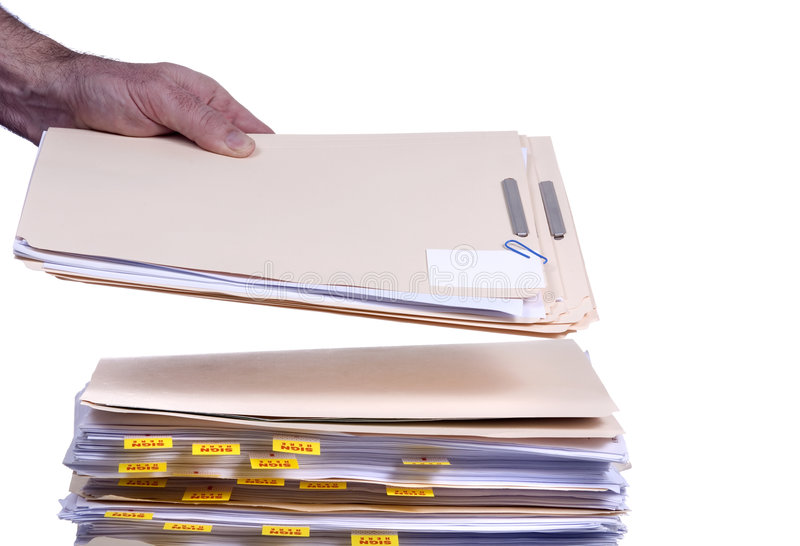 Download Piling on the Work 1 stock image. Image of organize, holding - 1868047