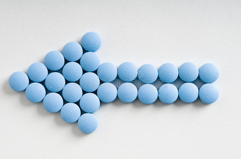 Pill Arrow royalty free stock images