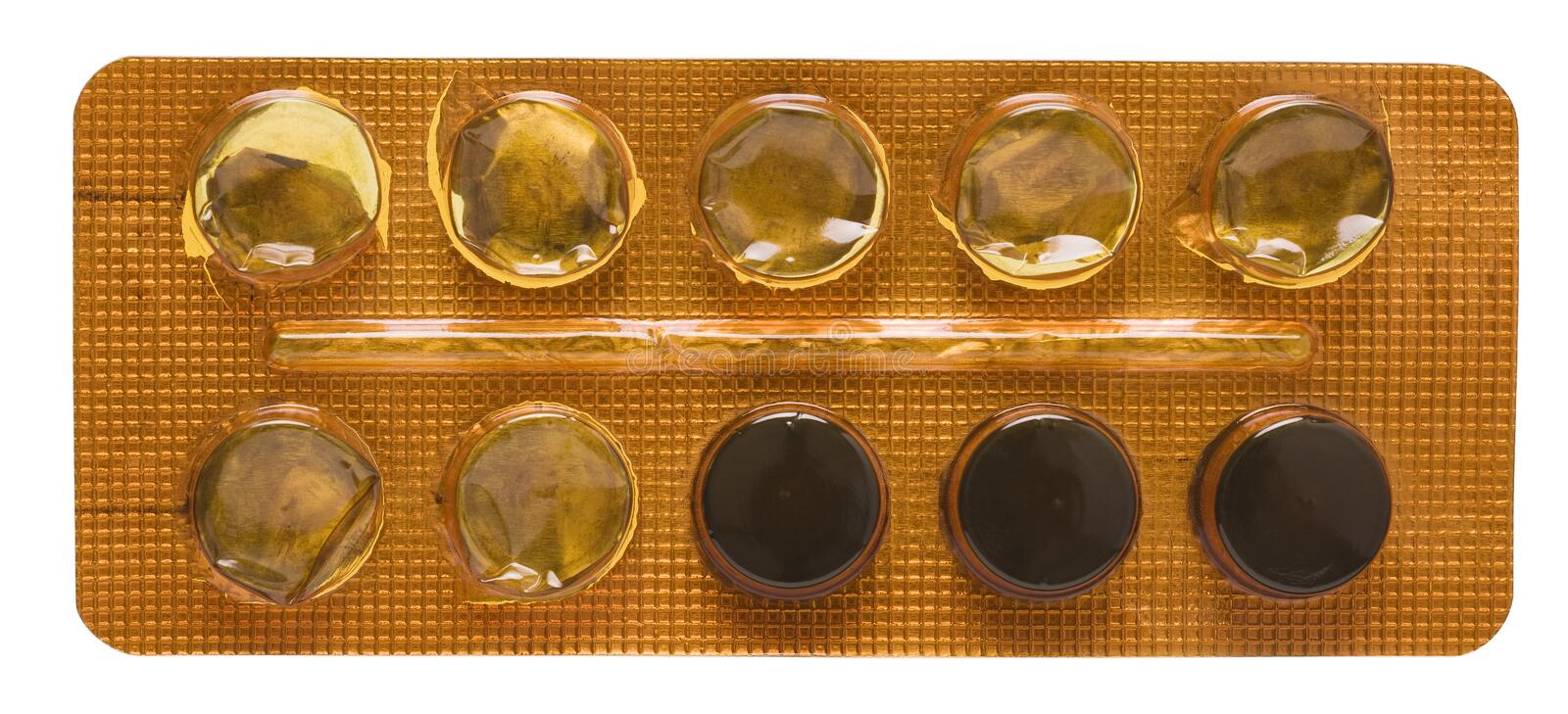 Download Pill blister stock photo. Image of detail, medicament - 29003308