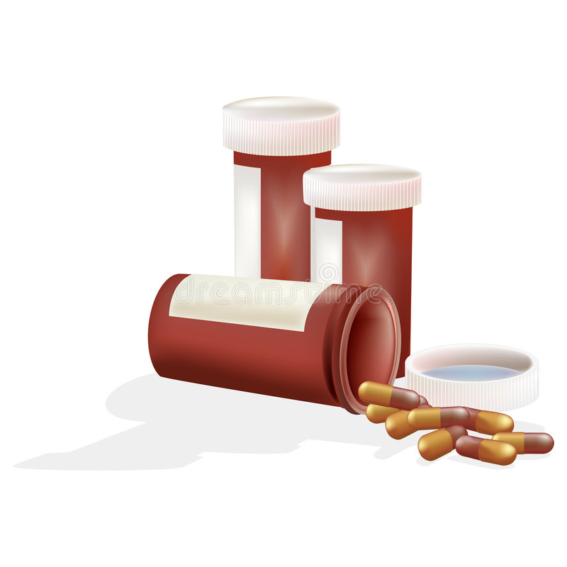Download Pill Bottles With Clipping Path Stock Photography - Image: 661432