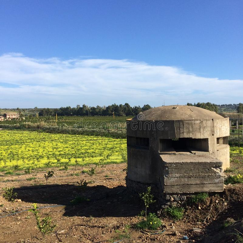 Pill Box in Sicily royalty free stock photography