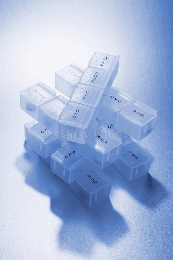 Download Pill Boxes stock photo. Image of organizer, medication - 18827934