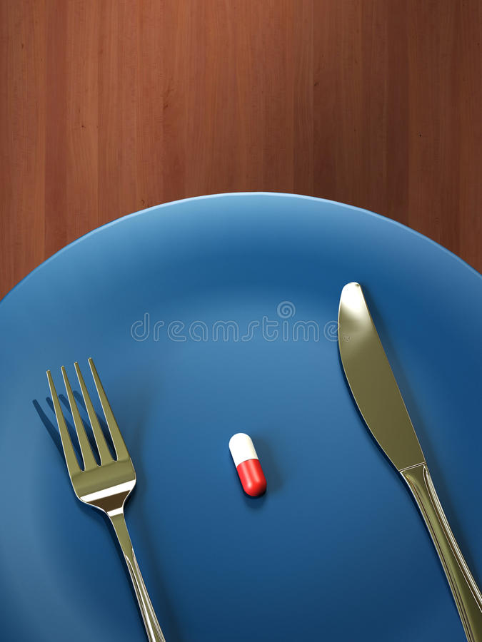 Pill on a dish