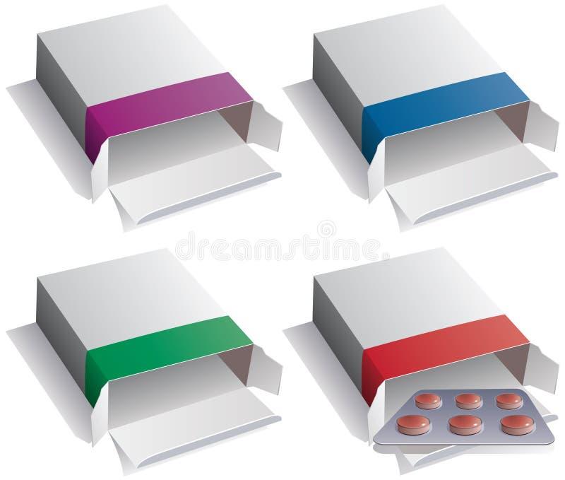 Pill Packs And Medical Pills Royalty Free Stock Photos