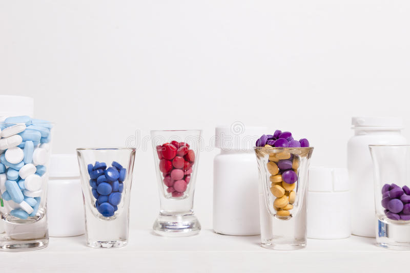 Pill Shot Glasses royalty free stock photography