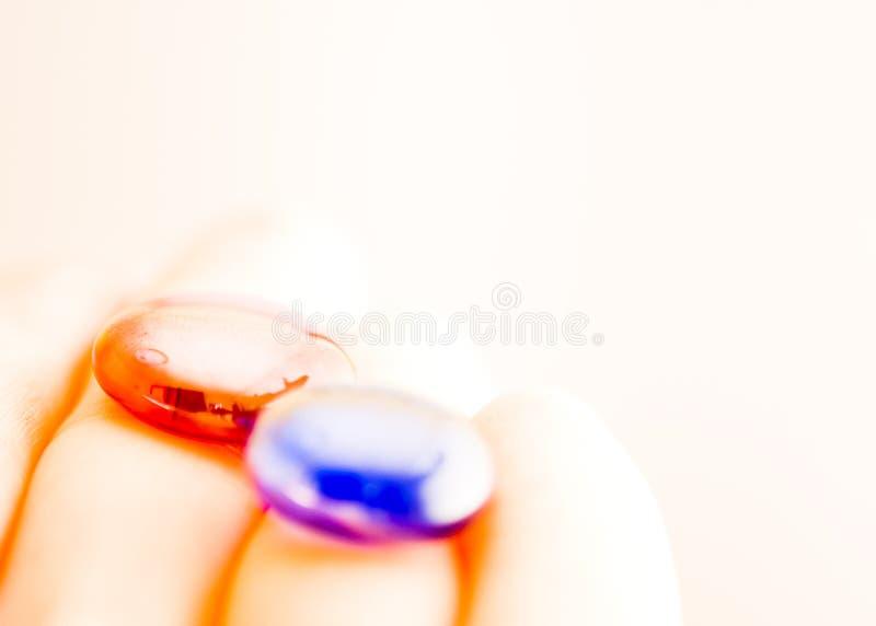 Pill vermelho, pill azul fotos de stock royalty free