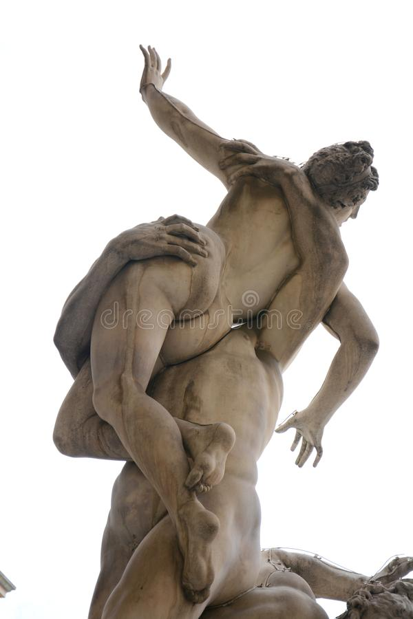 Pillage de la sculpture en femme de la Sabine, Florence image libre de droits