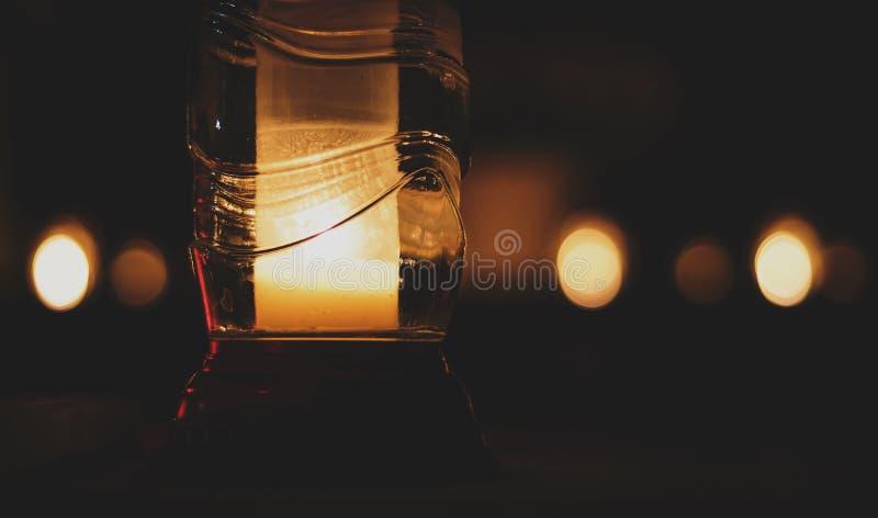 Pillar Candle Inside Glass Bottle Free Public Domain Cc0 Image