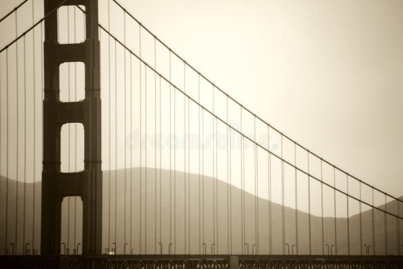 Pillar of Golden Gate Bridge stock photos