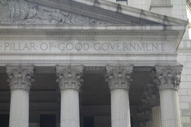 Pillar of Good Government stock images