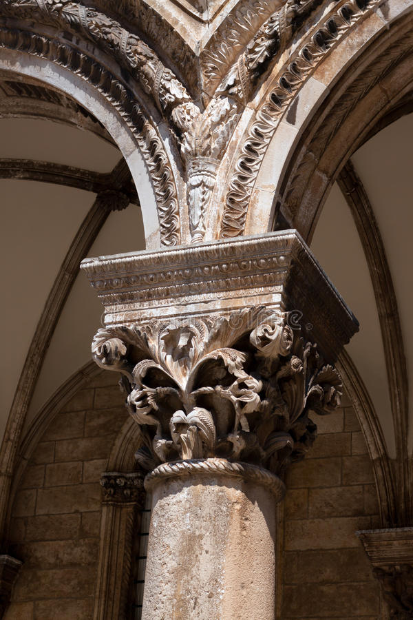 Download Pillar In The Gothic Renaissance Style Stock Photo