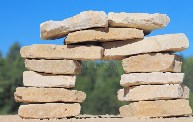 Pillar of stone stock photography