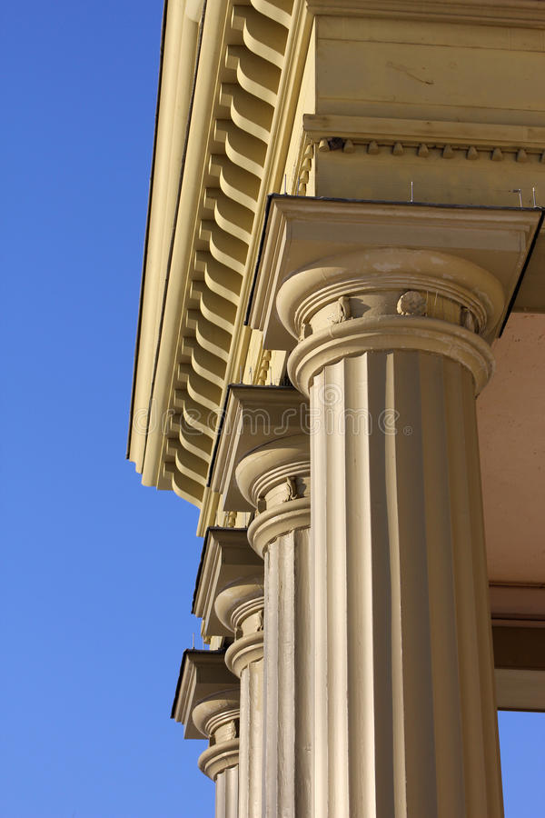 Pillars. On an old castle royalty free stock images