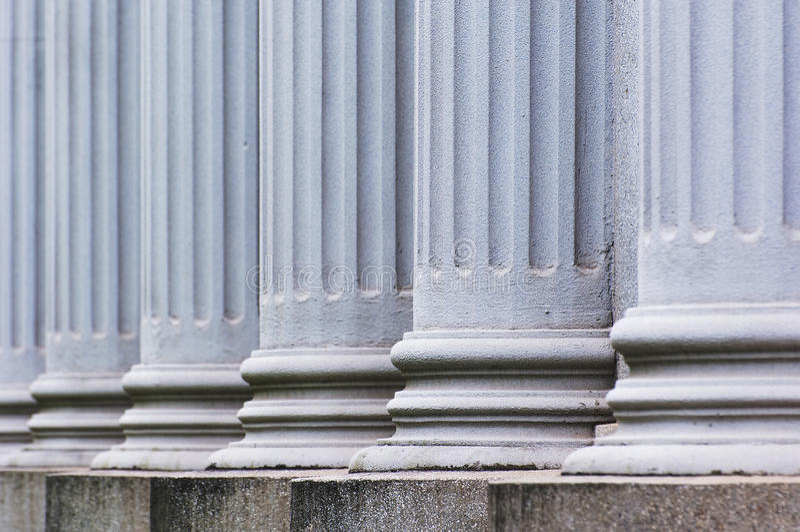 Pillars. The photo is stone Pillars, close up royalty free stock photography