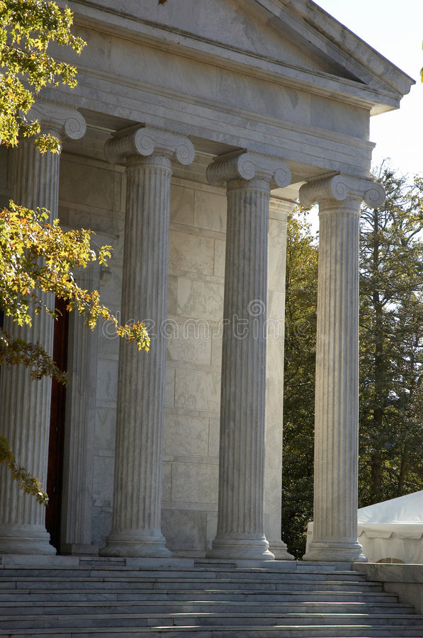 Pillars. Courthouse with pillars stock photography
