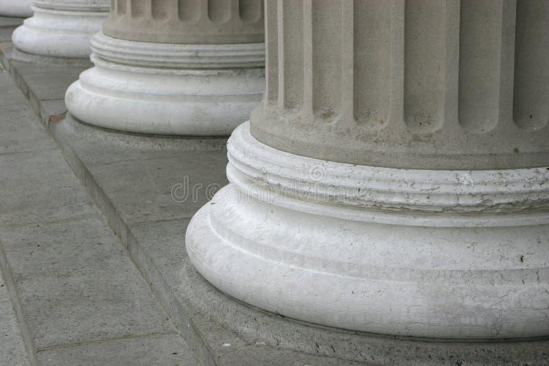 Pillars. Feet of large pillars stock photos