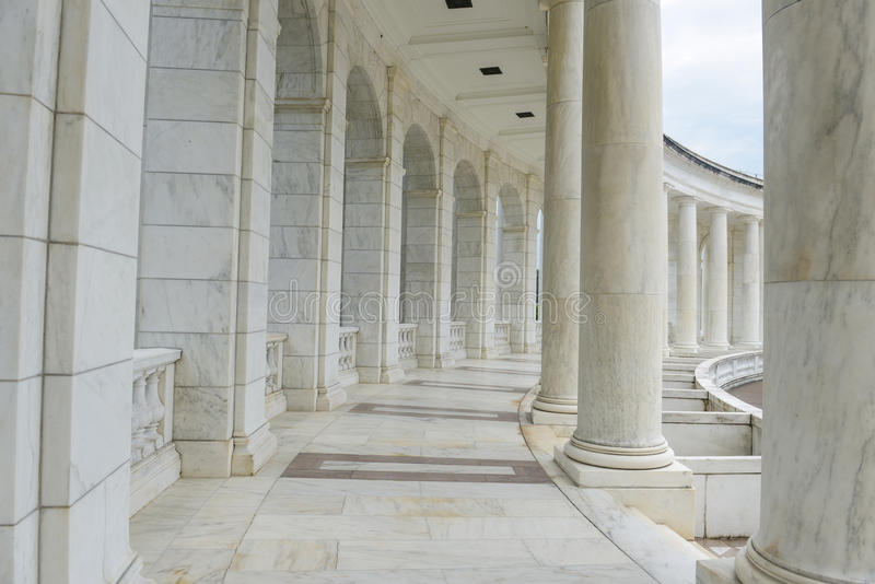 Pillars and Arch Hallway stock image