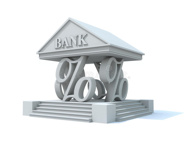 Download Pillars of banking stock illustration. Image of percent - 18220118