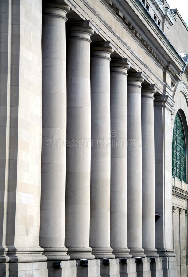 Download Pillars At Canadian Government Building Stock Photo - Image: 8859640
