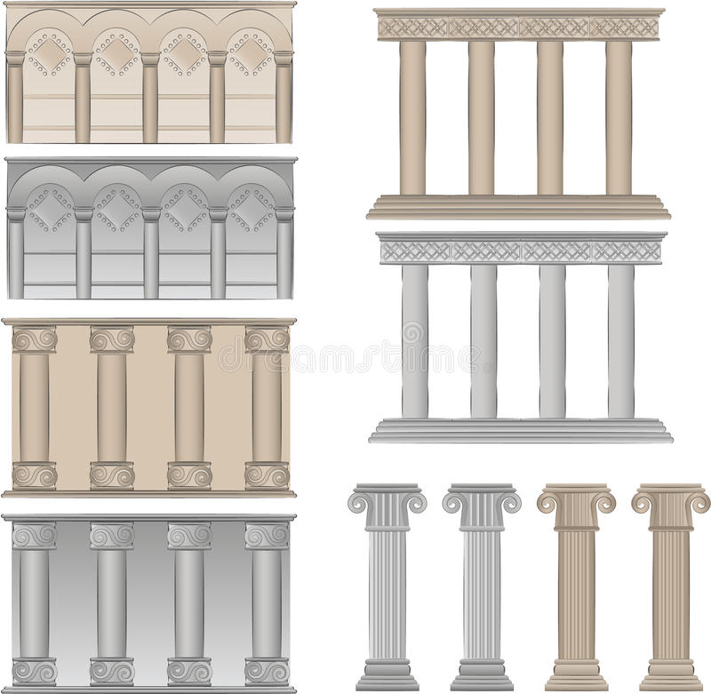 Download Pillars And Columns  Illustrations Stock Vector - Image: 13909892