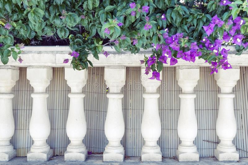 how to put artificial flowers on a wedding cake pillars fence stock photo image of detail flower pillar 16127