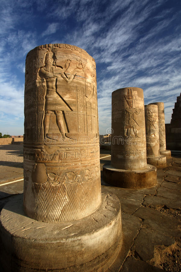 Download Pillars With Hieroglyphs, Egypt Stock Photo - Image: 24171100