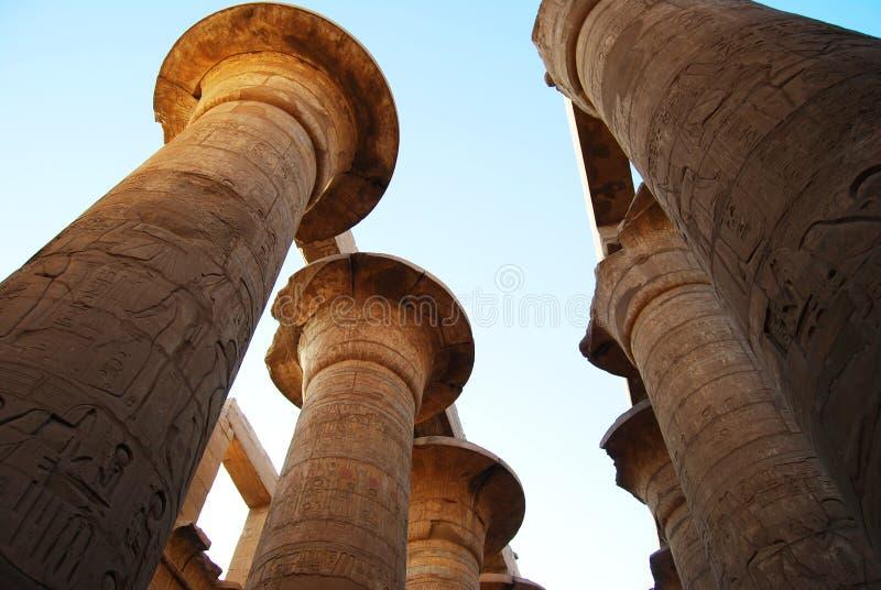 The pillars at the Karnak Temple, Luxor, Egypt. The pillars at the Karnak Temple, Luxor royalty free stock photo