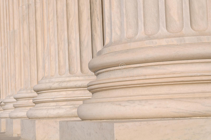 Pillars of Law and Information stock photo