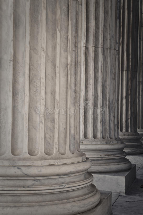 Pillars Of Law And Justice Stock Photos