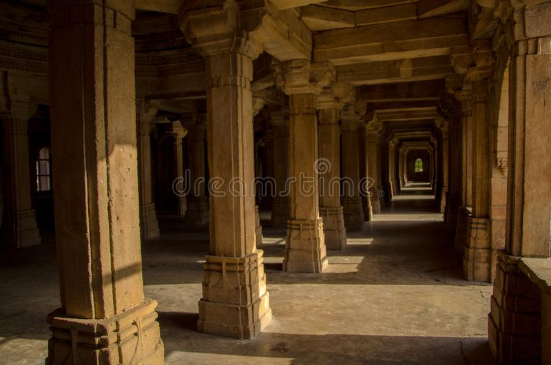 Pillars, Perspective and Heritage royalty free stock photo