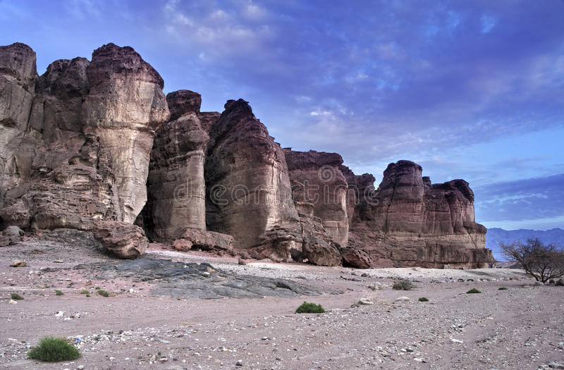 Pillars of Solomon, Timna park, Israel stock photography