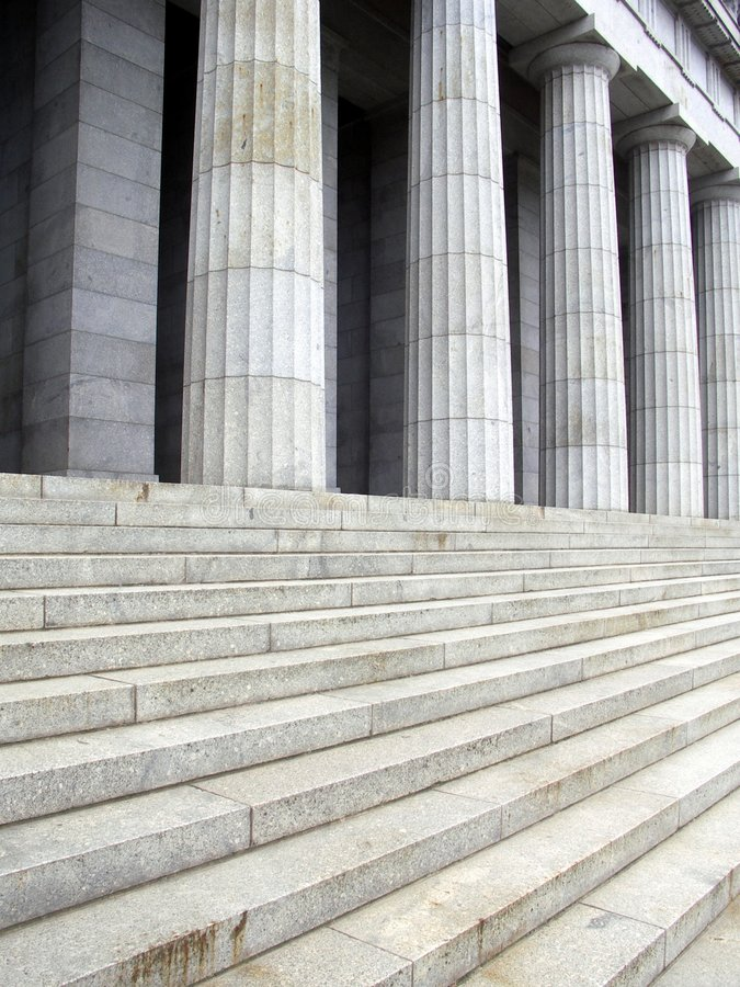 Pillars and steps royalty free stock photos