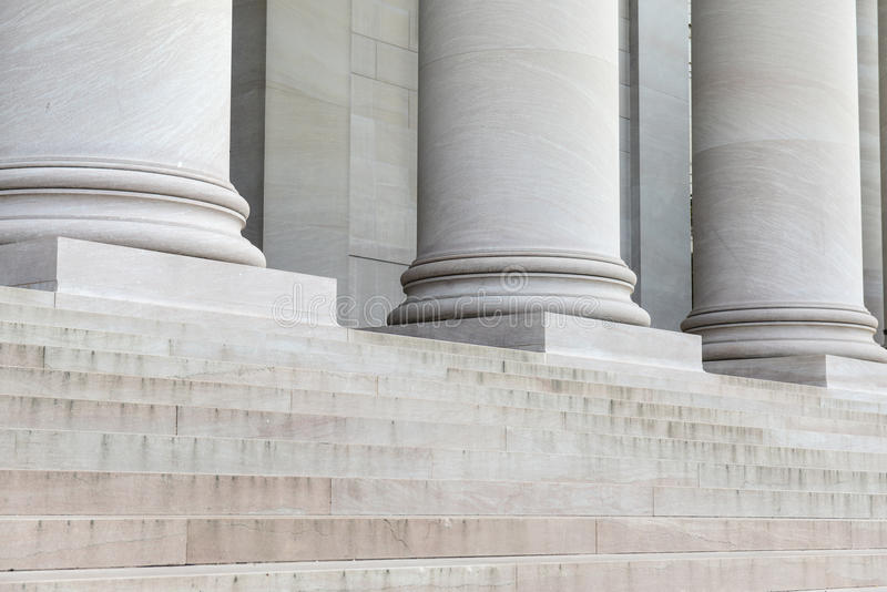 Pillars and Steps stock images