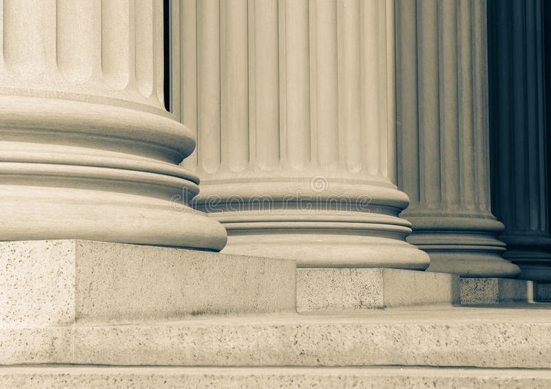 Pillars. And steps in a row stock photography