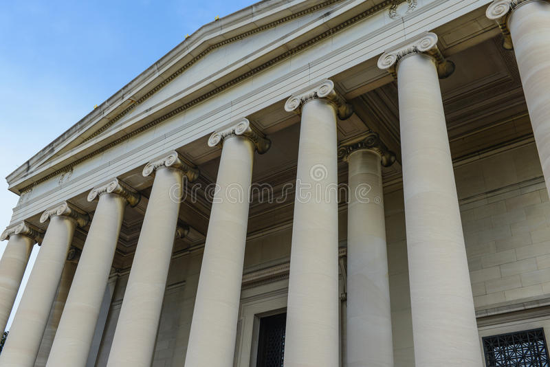 Pillars. Stone Pillars of a Courthouse stock photos