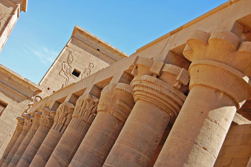 Pillars from an unusual angle, Luxor royalty free stock photography